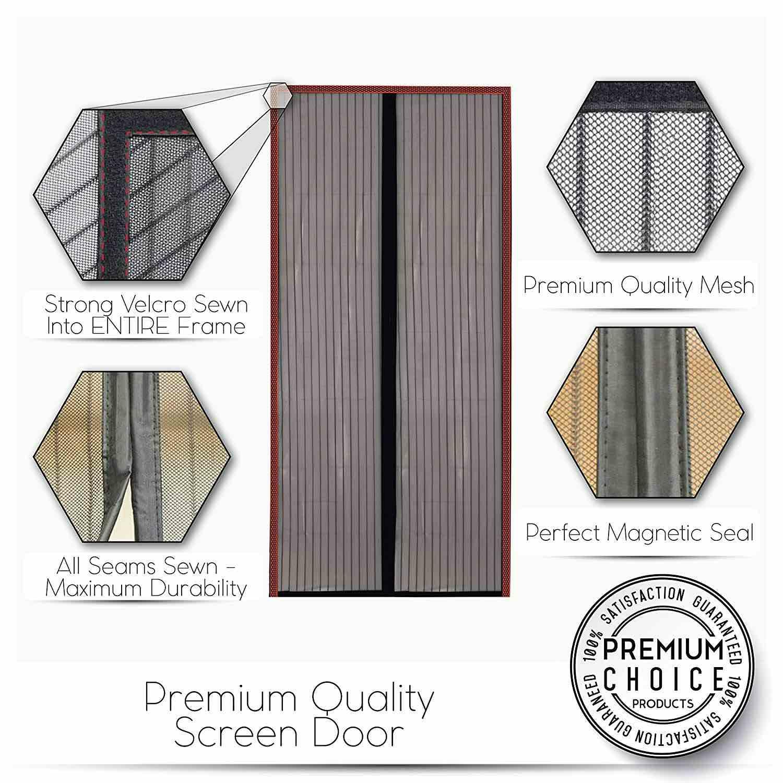 magnetic fly screen door curtain